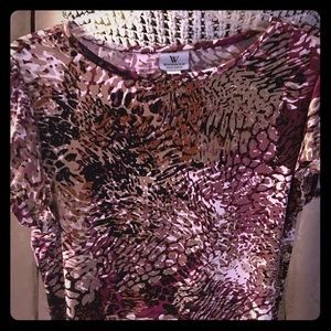 Fitted top - multi - color